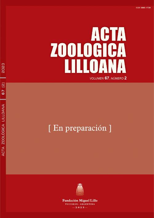 Acta Zoológica Lilloana, Publicación Anticipada