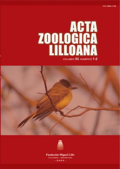 Ver Acta Zoológica Lilloana 53 (1-2) (2009)