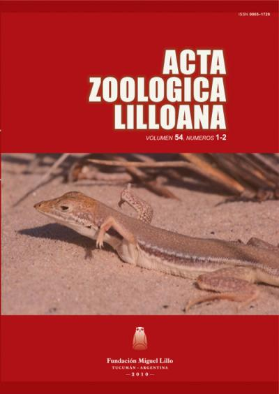 Ver Acta Zoológica Lilloana 54 (1-2) (2010)