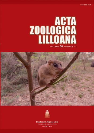 Ver Acta Zoológica Lilloana 56 (1-2) (2012)