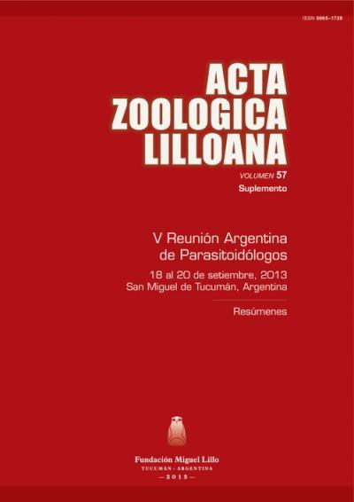 Ver Acta Zoológica Lilloana 57 Suplemento (2013)