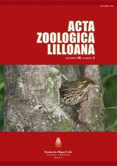 Ver Acta Zoológica Lilloana 58 (2) (2014)