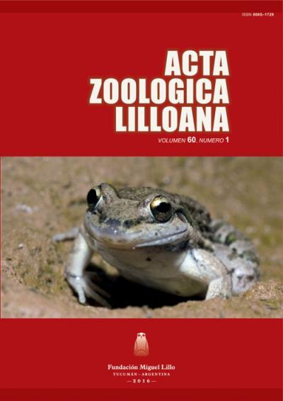 Ver Acta Zoológica Lilloana 60 (1) (2016)