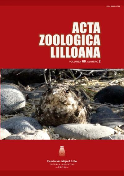Ver Acta Zoológica Lilloana 60 (2) (2016)