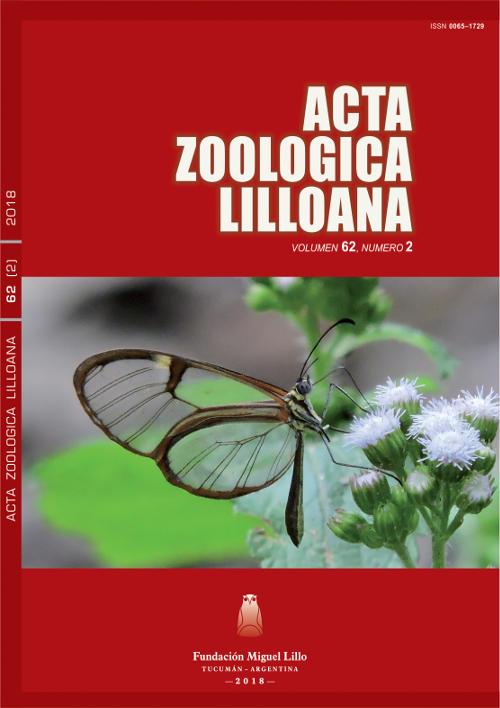 Ver Acta Zoológica Lilloana 62 (2) (2018)