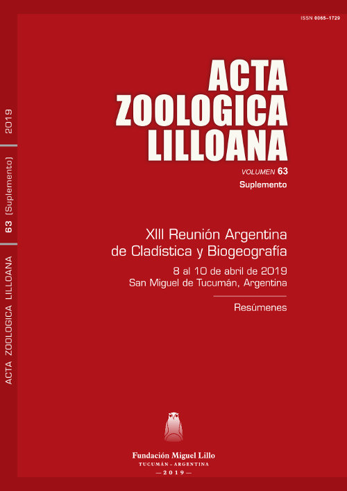 Ver Acta Zoológica Lilloana 63 (Suplemento) (2019)