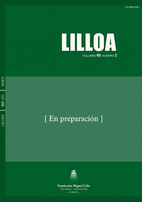 Lilloa, Publicación Anticipada